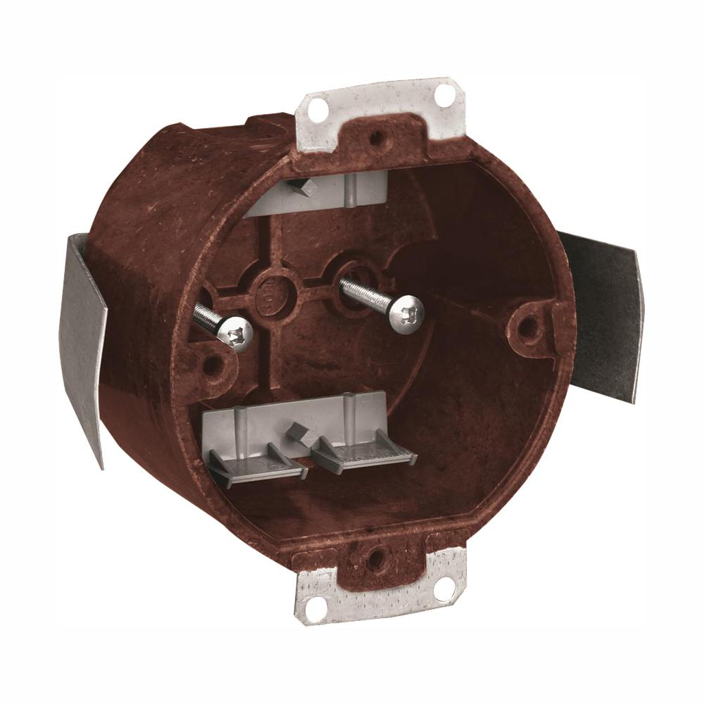 Carlon 14 Cu In Old Work Round Fixture Outlet Box 50
