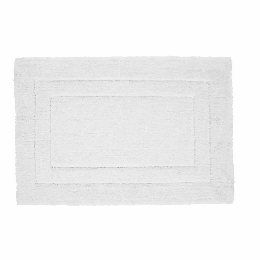 Loft White 21 in. x 34 in. Microfiber Bath Mat