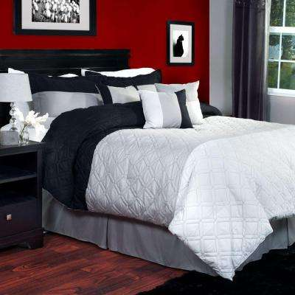 Emma 7-Piece Gray King Comforter Set