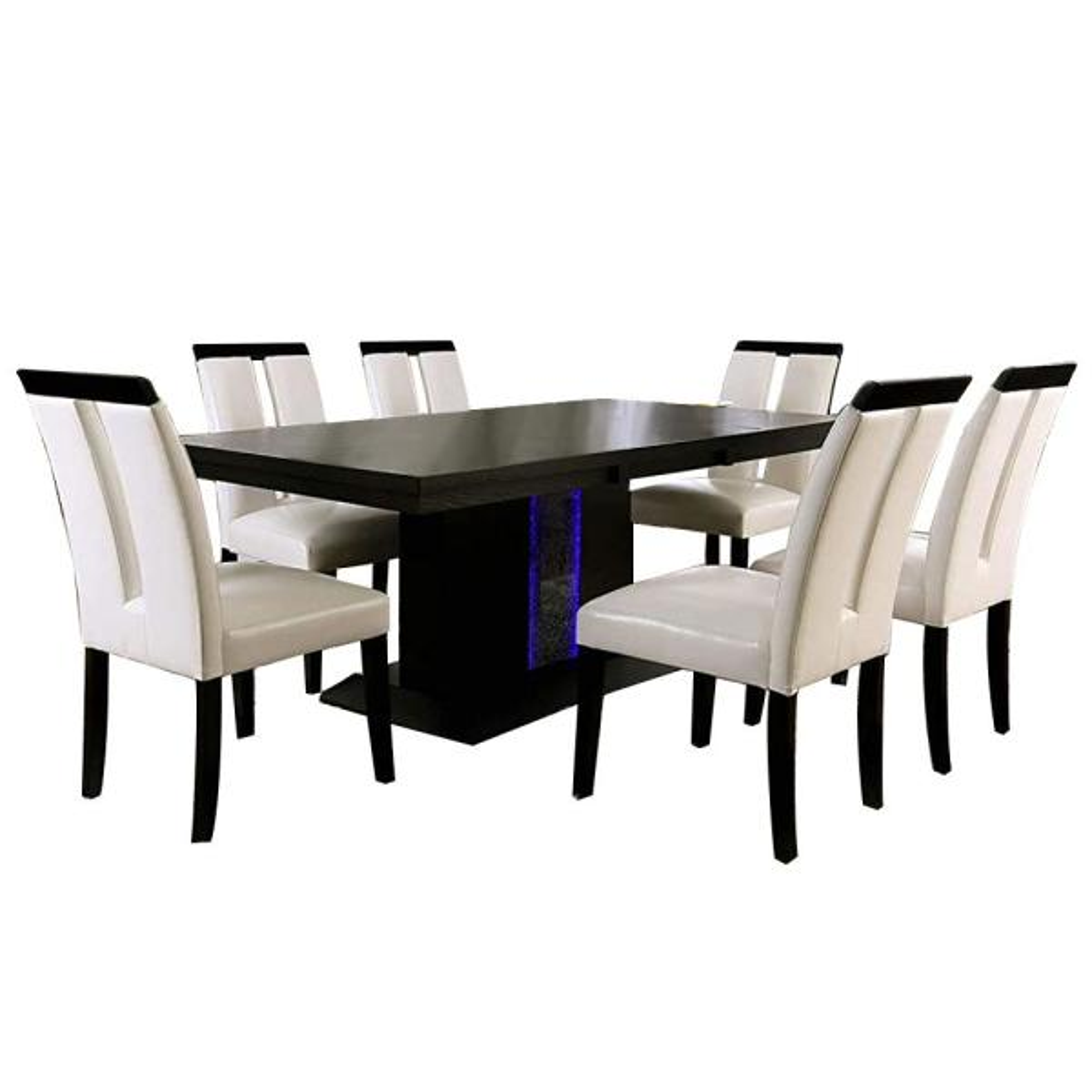 William S Home Furnishing Evangeline 7, Black Dining Room Table Set