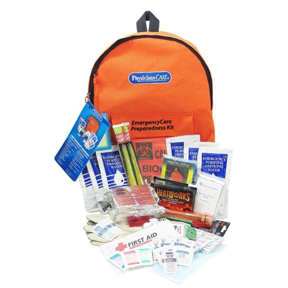 PhysiciansCare 63-Piece EmergencyCare XL Emergency Preparedness Backpack First Aid Kit - 4 Person