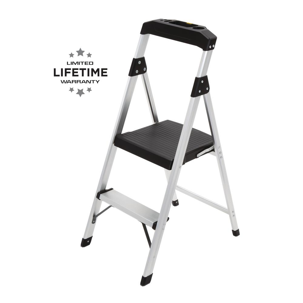 Peachy Gorilla Ladders 2 Step Aluminum Step Stool Ladder With 225 Lbs Type Ii Duty Rating Gmtry Best Dining Table And Chair Ideas Images Gmtryco