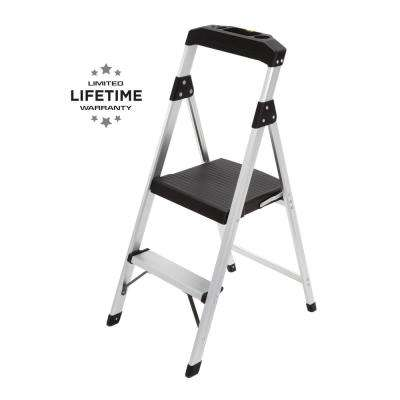 Incredible 2 Step Aluminum Step Stool Ladder With 225 Lbs Type Ii Duty Rating Gmtry Best Dining Table And Chair Ideas Images Gmtryco