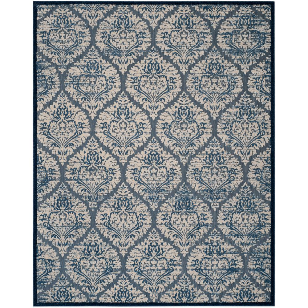 Very Safavieh Cottage Blue/Cream 5 ft. x 8 ft. Indoor/Outdoor Area Rug  HL64