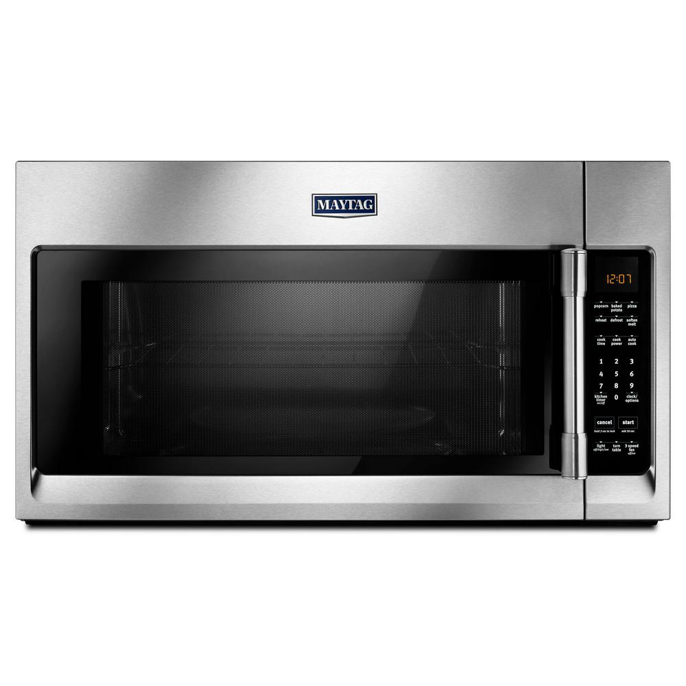 Maytag 2 0 Cu Ft Over The Range Microwave Hood In Fingerprint Resistant Stainless Steel