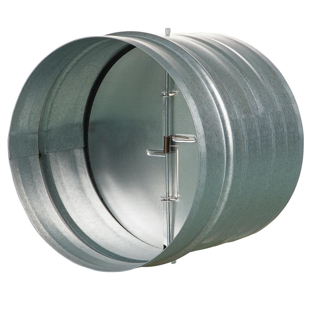 VENTS-US 6 in. Galvanized Back-Draft Damper with Rubber Seal-KOM 150 ...