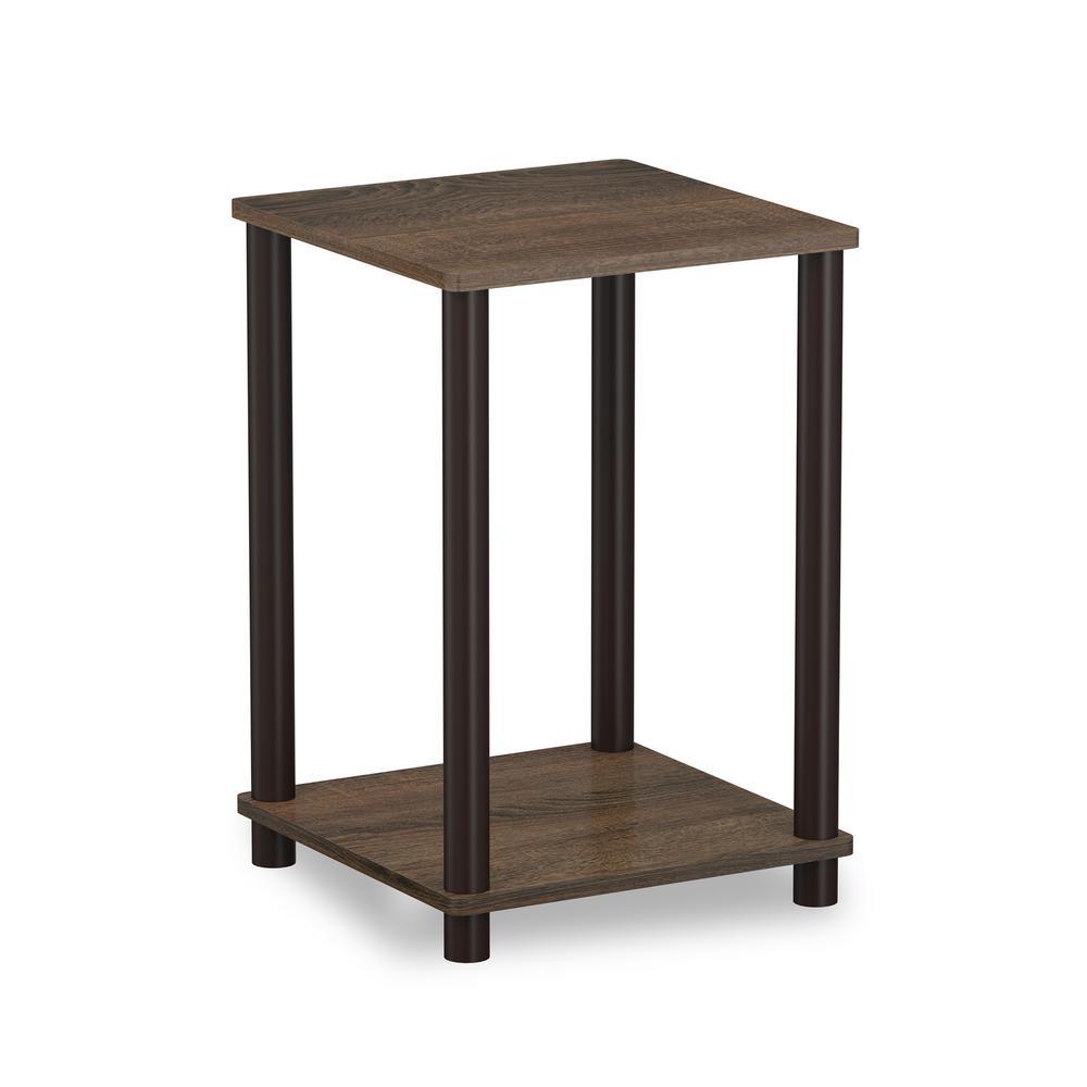 Turn N Tube Walnut/Brown Simple End Table