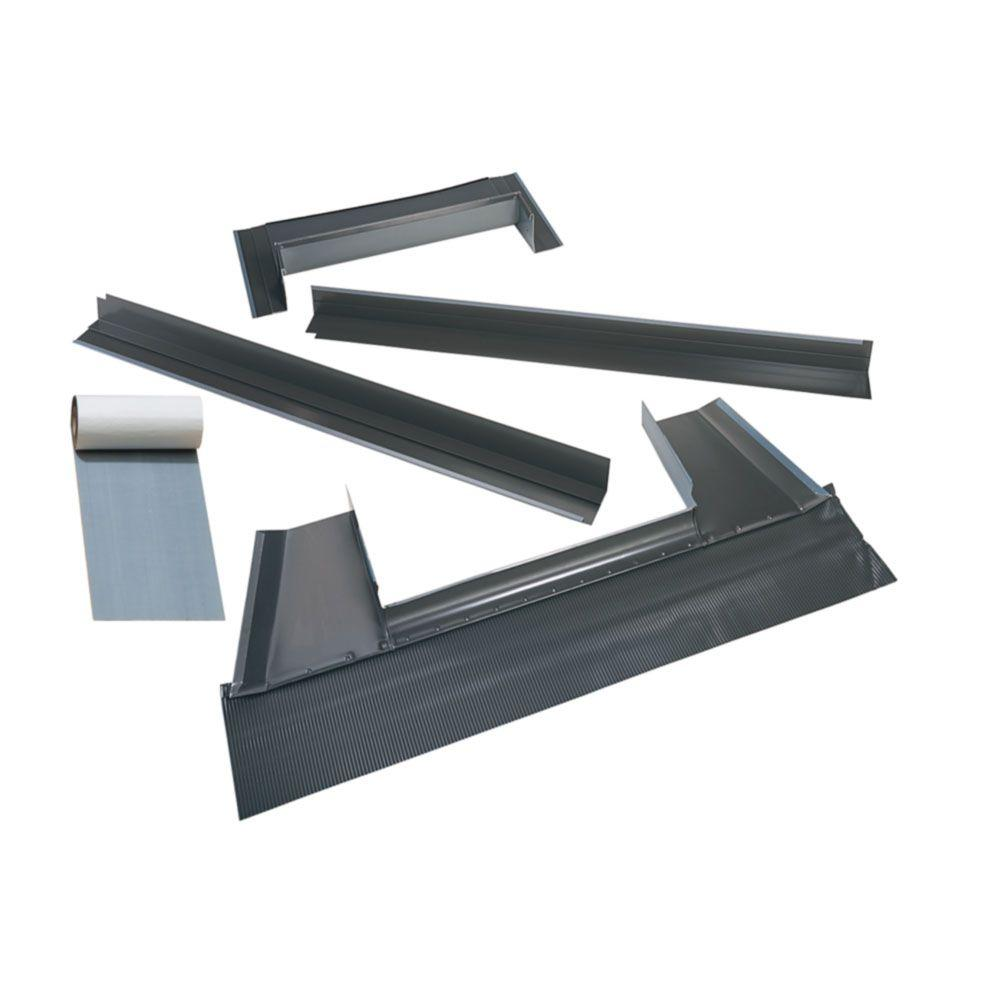 velux m04 metal roof flashing kit with adhesive underlayment for deck mount skylight edm m04. Black Bedroom Furniture Sets. Home Design Ideas