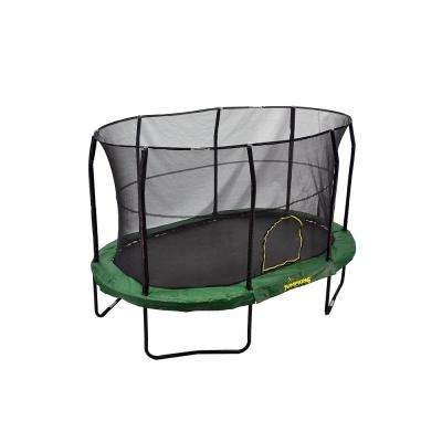 9 ft. by 14 ft. Green Trampoline Enclosure Combo