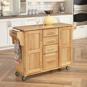 Home Styles Natural Kitchen Cart With Storage 5089 95