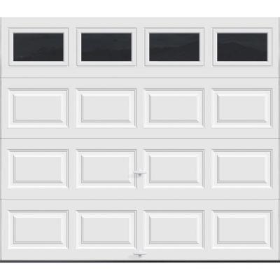 Classic Collection 9 ft. x 7 ft. 6.5 R-Value Insulated White Garage Door with Plain Window