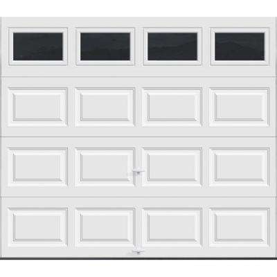 Premium Series 8 ft. x 7 ft. Intellicore R12.9 Insulated White Garage Door with Insulated Windows
