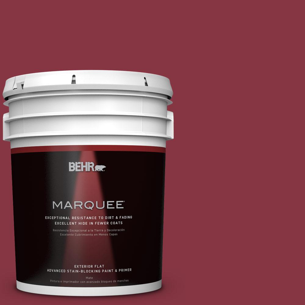 BEHR MARQUEE 5-gal. #S-H-120 Antique Ruby Flat Exterior Paint