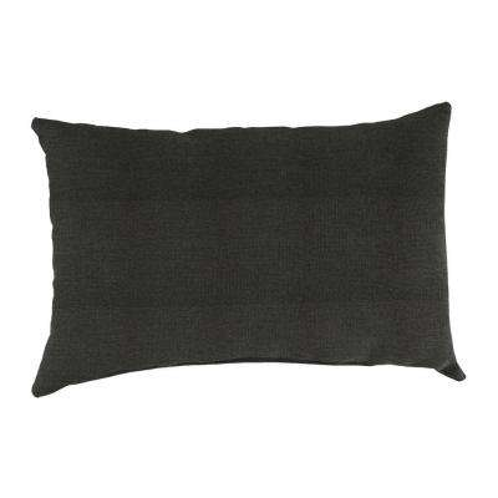 Sunbrella 9 in. x 22 in. Spectrum Carbon Lumbar Outdoor Pillow