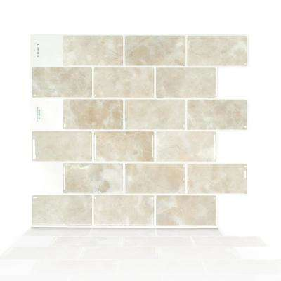 Subway Sora 10.95 in. W x 9.70 in. H Beige Peel and Stick Self-Adhesive Decorative Mosaic Wall Tile Backsplash
