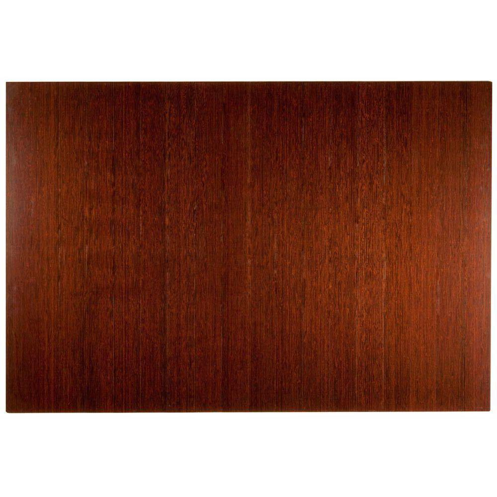 Deluxe Dark Brown Mahogany 48 in. x 72 in. Bamboo Roll-Up
