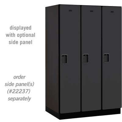 21000 Series Single Tier 24 in. D 3 Compartments Extra Wide Designer Wood Locker in Black