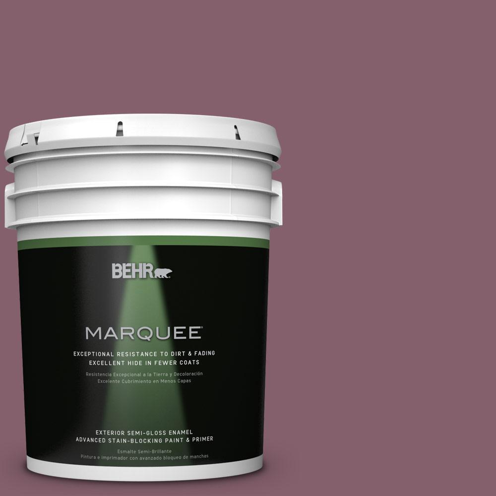 5-gal. #BIC-35 Vintage Plum Semi-Gloss Enamel Exterior Paint
