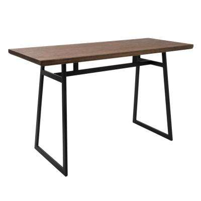 Geo Black and Brown Rectangular Industrial Counter Table