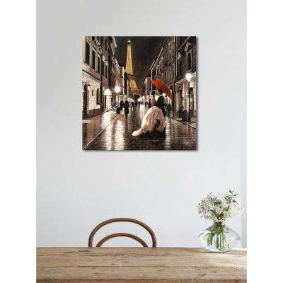 24 in. H x 24 in. W 'SAI - Passion Rue' by Oliver Gal Framed Canvas Wall Art