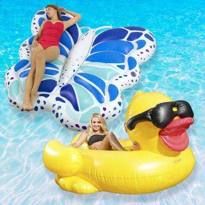 Duck and Butterfly Swimming Pool Float Combo Value Pack