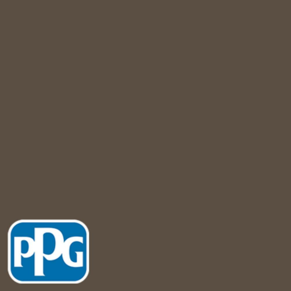 PPG TIMELESS 8 oz. #HDPPGWN39D Earth Brown Eggshell Interior/Exterior Paint Sample