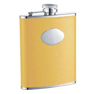 Sunshine Yellow Leather Liquor Flask