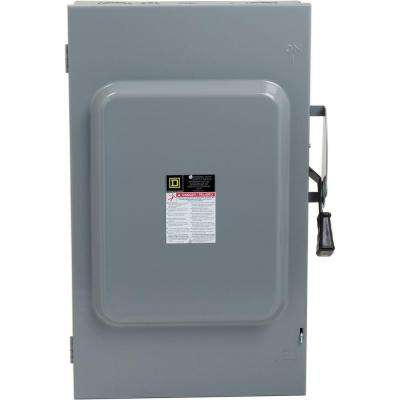 200 Amp 240-Volt 3-Pole 3-Phase Fused Indoor General Duty Safety Switch