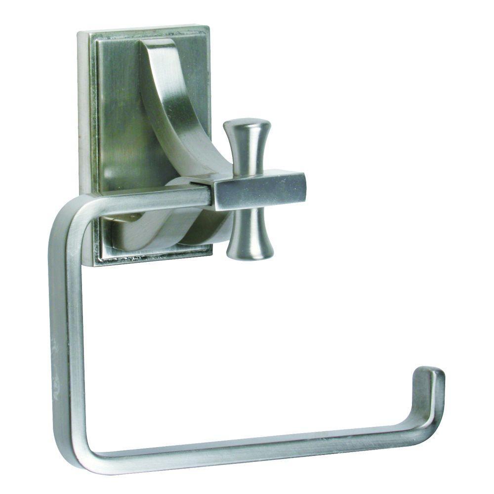 Design House Ironwood Single Post Toilet Paper Holder in Satin Nickel