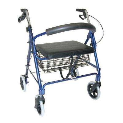 Lightweight Extra-Wide Heavy-Duty Rollator in Aluminum