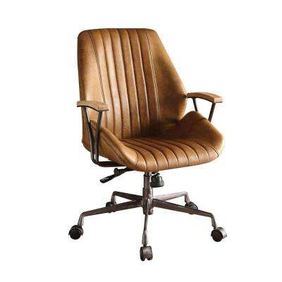 Hamilton Coffee Leather Top Grain Leather Office Chair