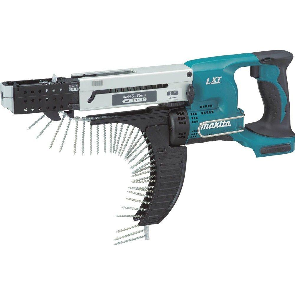 Makita 18-Volt LXT Lithium-Ion 12 in. Cordless Auto-Feed Screwdriver (Tool-Only)
