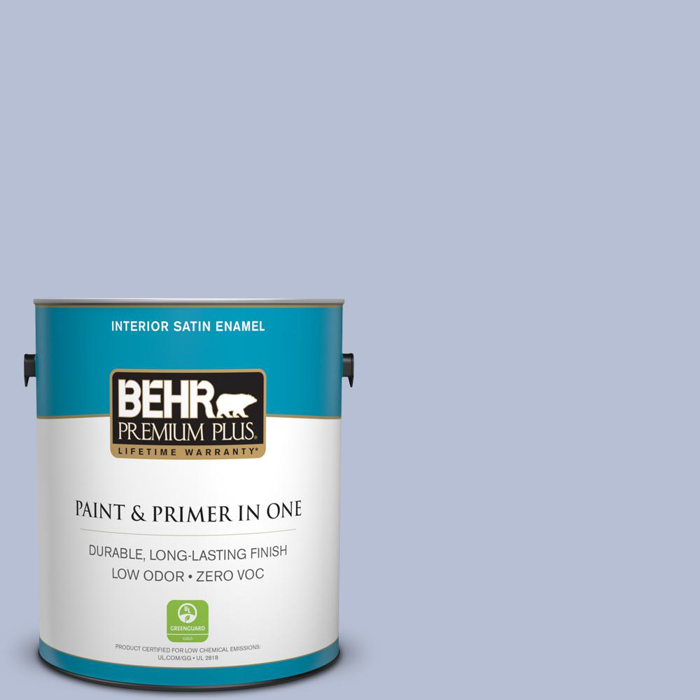 1 gal. #PPU15-15 Sweet Juliet Zero VOC Satin Enamel Interior Paint