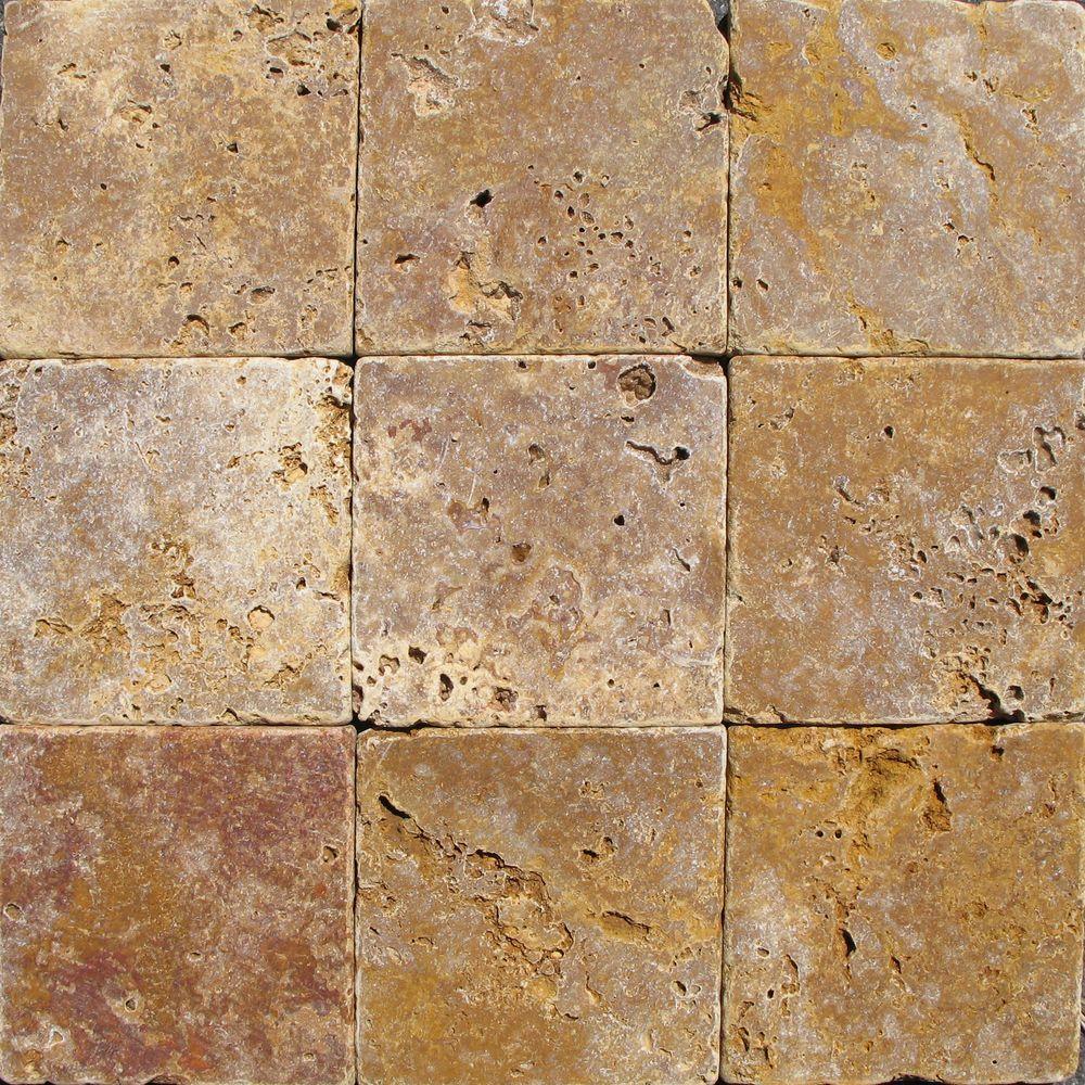 Tumbled floor tiles