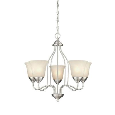 Clinton 5-Light Satin Nickel Chandelier