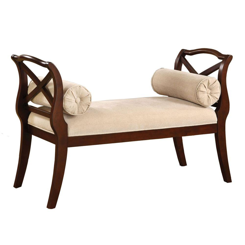 Venetian Worldwide Philipsberg Dark Cherry Finish Bench
