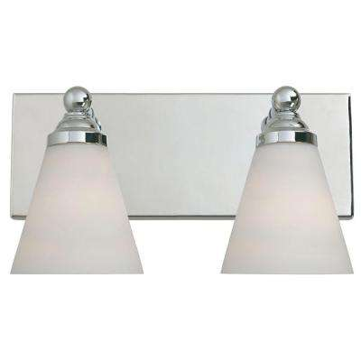 Franklin Collection 2-Light Chrome Wall Mount Vanity Light