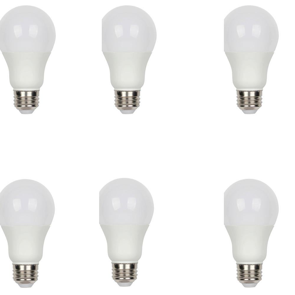 40W Equivalent Warm White (3,000K) A19 Medium Base Dimmable LED Energy