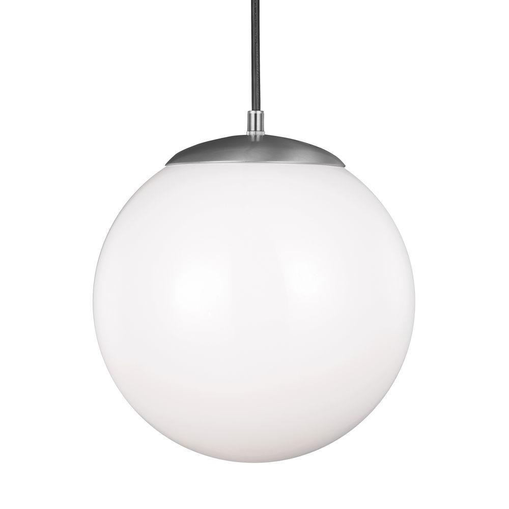 Sea gull lighting hanging globe 1 light satin aluminum pendant sea gull lighting hanging globe 1 light satin aluminum pendant lighting aloadofball Image collections