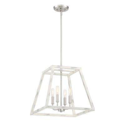 Rhode 4-Light Coastal Weathered White Interior Pendant