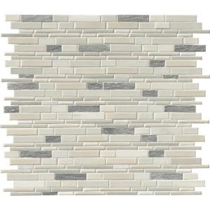 Everest Interlocking 12 in. x 12 in. x 8 mm Textured Porcelain and Stone Mesh-Mounted Mosaic Tile (1 sq. ft.)