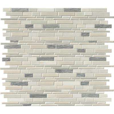 Everest Interlocking 12 in. x 12 in. x 8 mm Porcelain and Stone Mesh-Mounted Mosaic Tile (1 sq. ft.)