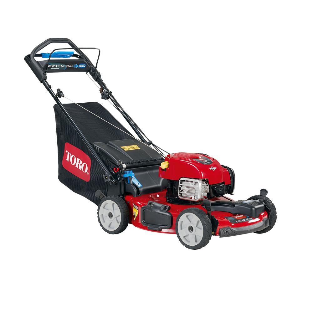 All-Wheel Drive Personal Pace Variable Speed Gas Self Propelled Mower with  Briggs   Stratton Engine af043c22935