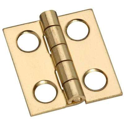 3/4 in. Solid Brass Middle Hinge