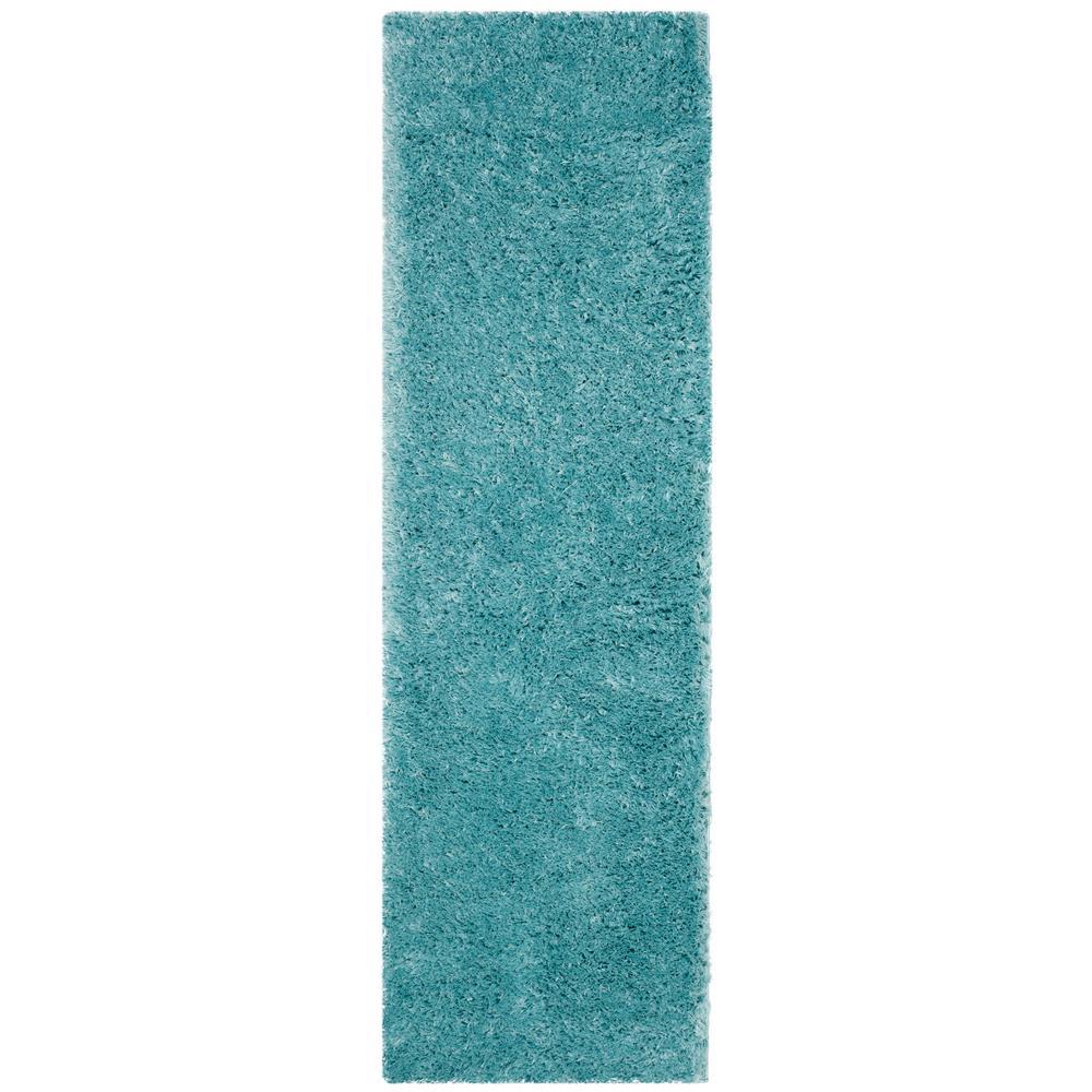 Safavieh Polar Shag Light Turquoise 2 Ft. 3 In. X 12 Ft