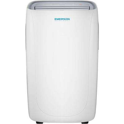 10,000 BTU 115-Volt Portable Air Conditioner with Dehumidifier Function and Remote in White