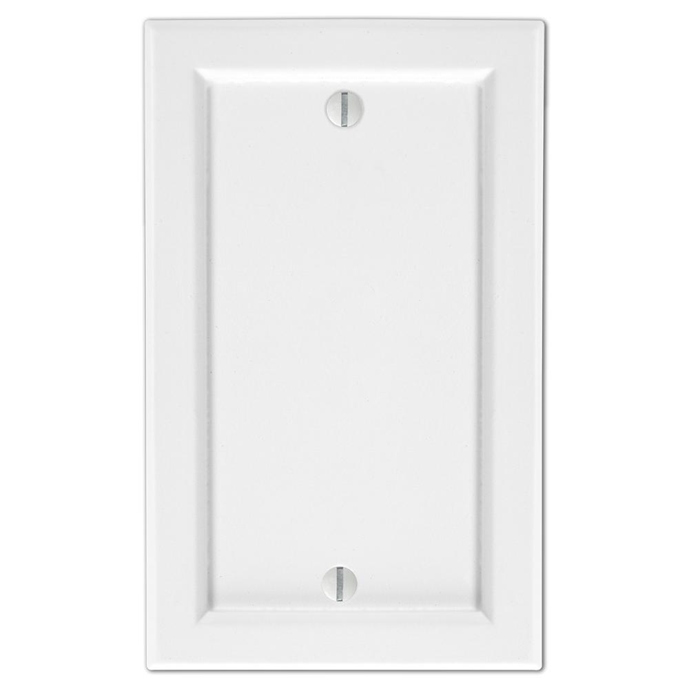 AMERELLE Woodmore 1 Gang Blank Wood Wall Plate - White