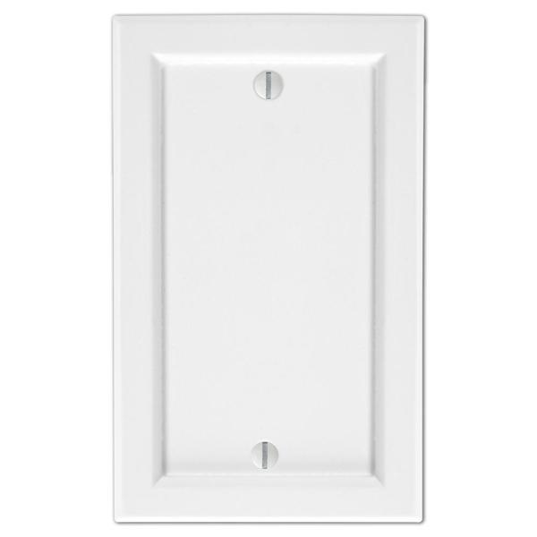Woodmore 1 Gang Blank Wood Wall Plate - White