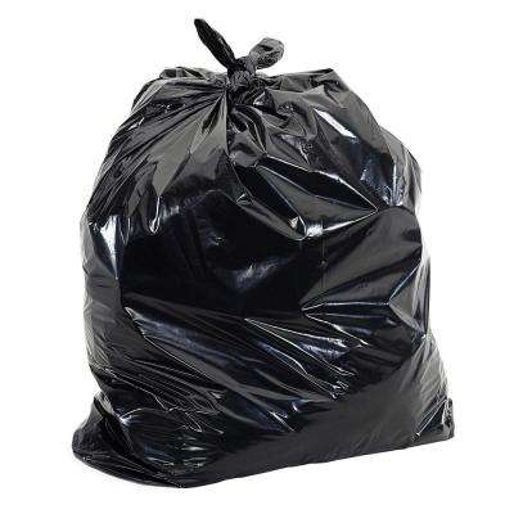55 Gal.-60 Gal. 1 mil 38 in. x 58 in. Black Strength Plastic Trash Liner Garbage Bags for 50 Gal.-55 Gal. Can (100-Pack)