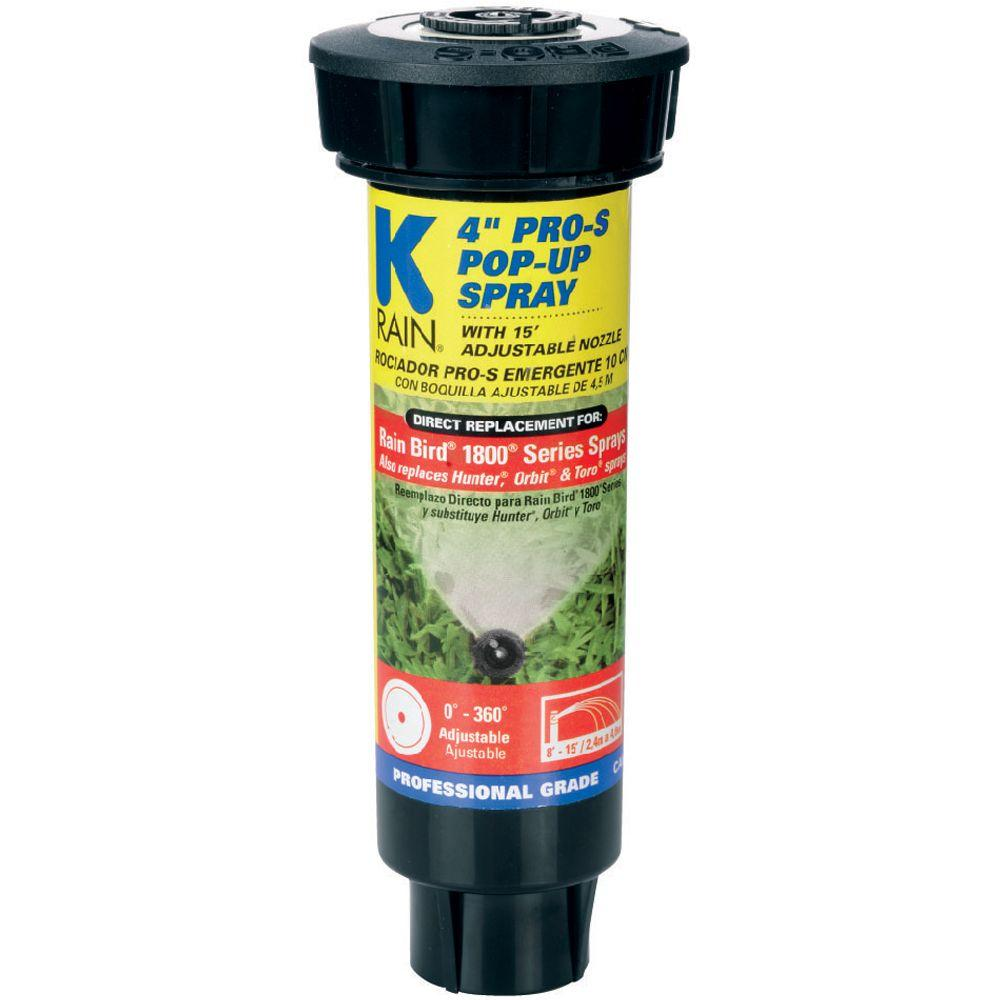 K-Rain Pro S 4 in. Spray with 15 ft. Adjustable Nozzle